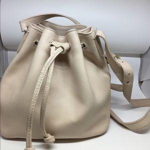 J.Crew mini Downing bucket bag in light blush